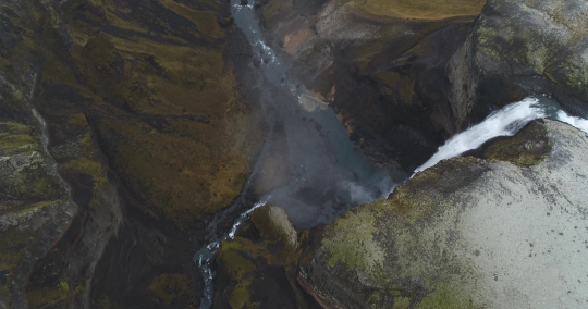 Aerial drone shot of the famous waterfall in Iceland : Stock Photo or Stock Video Download rcfotostock photos, images and assets rcfotostock | RC-Photo-Stock.: