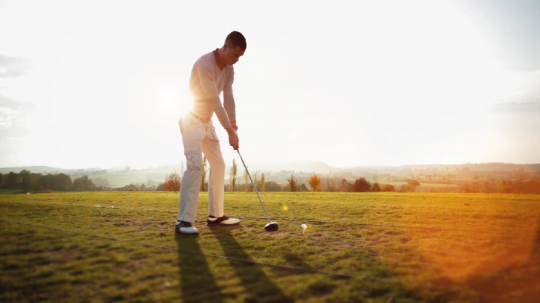 Golf Shot on a sunny autumn day, with sound : Stock Photo or Stock Video Download rcfotostock photos, images and assets rcfotostock | RC-Photo-Stock.: