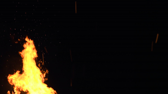 ultra slow motion shot of fire flames and glowing ashes on black background : Stock Photo or Stock Video Download rcfotostock photos, images and assets rcfotostock | RC-Photo-Stock.: