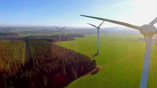 Windmill / Wind power technology - Aerial drone view on Wind Power, Turbine, Windmill, Energy Production - Green technology, a clean and renewable energy solution : Stock Photo or Stock Video Download rcfotostock photos, images and assets rcfotostock | RC-Photo-Stock.: