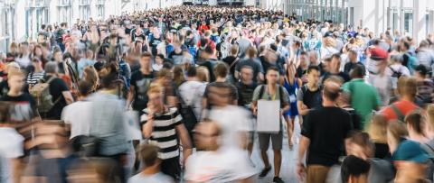 blurred people at a trade fair- Stock Photo or Stock Video of rcfotostock   RC-Photo-Stock