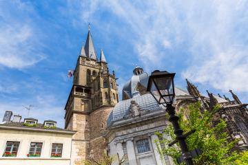 aachen Cathedral at spring- Stock Photo or Stock Video of rcfotostock | RC-Photo-Stock