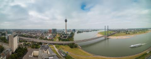 Dusseldorf panorama view- Stock Photo or Stock Video of rcfotostock | RC-Photo-Stock