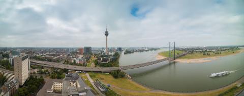 Dusseldorf panorama view- Stock Photo or Stock Video of rcfotostock | RC-Photo-Stock