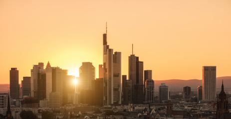 financial district city Skyline of Frankfurt at Sunset : Stock Photo or Stock Video Download rcfotostock photos, images and assets rcfotostock | RC-Photo-Stock.: