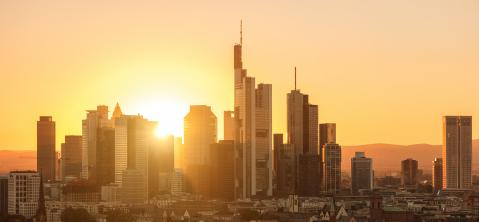 financial district of Frankfurt at Sunset- Stock Photo or Stock Video of rcfotostock | RC-Photo-Stock