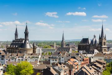 Imperial City of Aachen at summer : Stock Photo or Stock Video Download rcfotostock photos, images and assets rcfotostock | RC-Photo-Stock.: