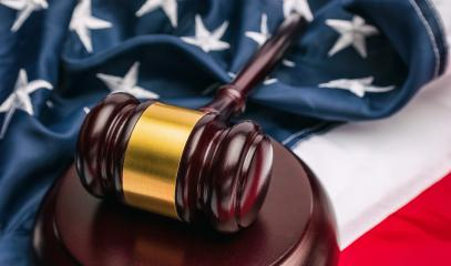 judge's gavel with USA flag - American crime concept - Stock Photo or Stock Video of rcfotostock | RC-Photo-Stock