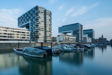Rheinauhafen in cologne with moorings : Stock Photo or Stock Video Download rcfotostock photos, images and assets rcfotostock | RC-Photo-Stock.: