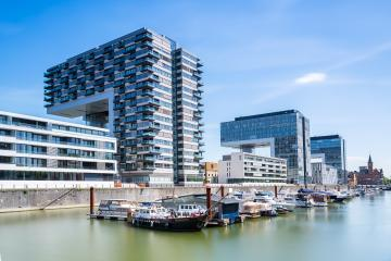 Rheinauharbor in cologne with moorings at summer : Stock Photo or Stock Video Download rcfotostock photos, images and assets rcfotostock   RC-Photo-Stock.: