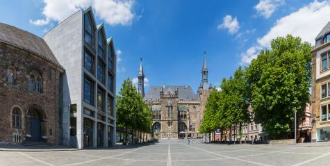 Town Hall Aachen with Katschhof panorama- Stock Photo or Stock Video of rcfotostock | RC-Photo-Stock