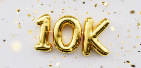 10k followers celebration. Social media achievement poster. 10k followers thank you lettering. Golden sparkling confetti ribbons. Gratitude text on white background. : Stock Photo or Stock Video Download rcfotostock photos, images and assets rcfotostock | RC-Photo-Stock.: