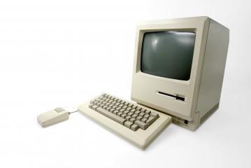 1st Apple Macintosh Computer- Stock Photo or Stock Video of rcfotostock | RC-Photo-Stock