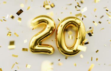 20 years old. Gold balloons number 20th anniversary, happy birthday congratulations- Stock Photo or Stock Video of rcfotostock | RC-Photo-Stock