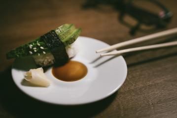 24746726-sashimi-sushi-roll-with-avocado-on-ceramic-plate-with- Stock Photo or Stock Video of rcfotostock | RC-Photo-Stock