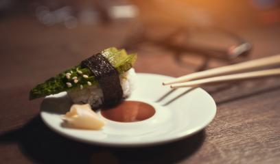 24746727-sashimi-sushi-roll-with-avocado-on-ceramic-plate-with- Stock Photo or Stock Video of rcfotostock | RC-Photo-Stock
