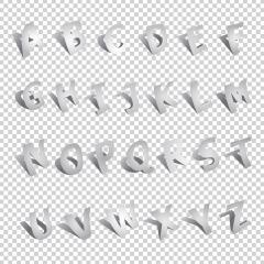 3D Alphabet font template, alphabet design set on checked transparent background. Vector illustration. Eps 10 vector file. : Stock Photo or Stock Video Download rcfotostock photos, images and assets rcfotostock | RC-Photo-Stock.: