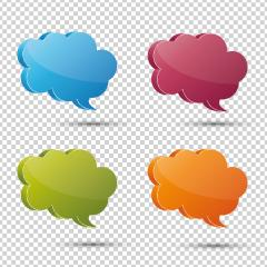 3d speech bubble set on the checked transparent background. Vector illustration. Eps 10 vector file.- Stock Photo or Stock Video of rcfotostock | RC-Photo-Stock