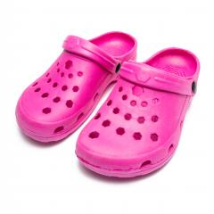 A pair of pink professional ventilated work clogs isolated over white- Stock Photo or Stock Video of rcfotostock | RC-Photo-Stock