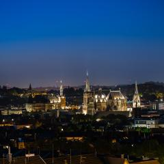 Aachen (aix-la-chapelle) at night : Stock Photo or Stock Video Download rcfotostock photos, images and assets rcfotostock | RC-Photo-Stock.: