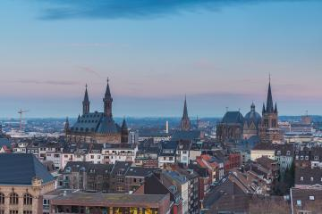 Aachen (aix-la-chapelle) imperial city at sunset : Stock Photo or Stock Video Download rcfotostock photos, images and assets rcfotostock | RC-Photo-Stock.: