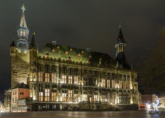 Aachen (Aix-la-Chapelle) town hall- Stock Photo or Stock Video of rcfotostock | RC-Photo-Stock