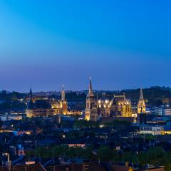Aachen (aix-la-chapelle) with cathedral and town hall at night- Stock Photo or Stock Video of rcfotostock | RC-Photo-Stock