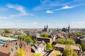 Aachen (Aix-la-Chapelle) with town hall and Cathedral- Stock Photo or Stock Video of rcfotostock | RC-Photo-Stock