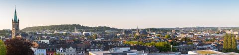 Aachen at sunset panorama- Stock Photo or Stock Video of rcfotostock | RC-Photo-Stock