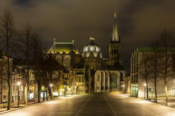 Aachen Cathedral at Night- Stock Photo or Stock Video of rcfotostock | RC-Photo-Stock