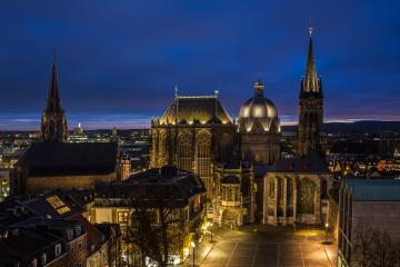 Aachen Cathedral at night : Stock Photo or Stock Video Download rcfotostock photos, images and assets rcfotostock | RC-Photo-Stock.: