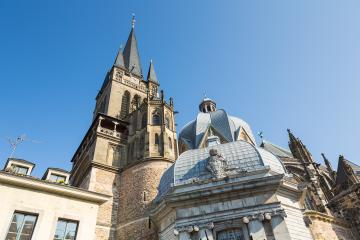 aachen cathedral in summer- Stock Photo or Stock Video of rcfotostock | RC-Photo-Stock