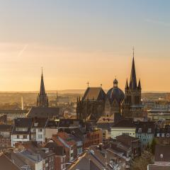 aachen cathedral in sunset- Stock Photo or Stock Video of rcfotostock | RC-Photo-Stock
