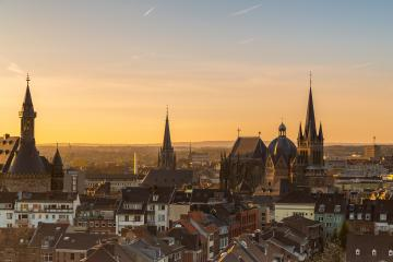 aachen cathedral in sunset light : Stock Photo or Stock Video Download rcfotostock photos, images and assets rcfotostock | RC-Photo-Stock.:
