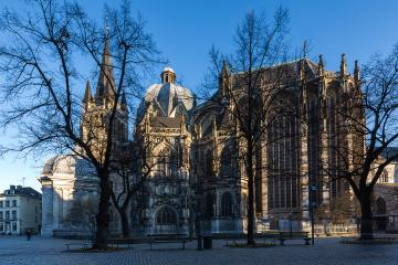 aachen cathedral in the morning light panorama- Stock Photo or Stock Video of rcfotostock | RC-Photo-Stock