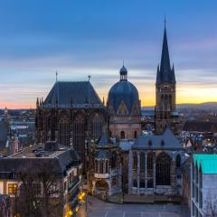 Aachen Cathedral on sunset : Stock Photo or Stock Video Download rcfotostock photos, images and assets rcfotostock | RC-Photo-Stock.: