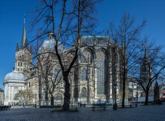 aachen cathedral with minster place panorama : Stock Photo or Stock Video Download rcfotostock photos, images and assets rcfotostock | RC-Photo-Stock.: