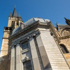 aachen cathedral with tower house- Stock Photo or Stock Video of rcfotostock | RC-Photo-Stock