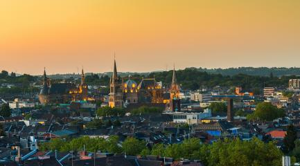 Aachen city centre from an unusual view of the town hall and cathedral- Stock Photo or Stock Video of rcfotostock | RC-Photo-Stock