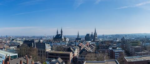 Aachen city in spring with cathedral and town hall  : Stock Photo or Stock Video Download rcfotostock photos, images and assets rcfotostock | RC-Photo-Stock.: