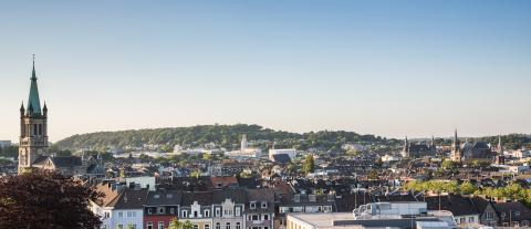 aachen city panorama at dusk- Stock Photo or Stock Video of rcfotostock   RC-Photo-Stock