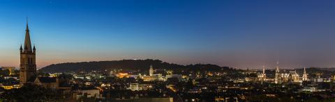 Aachen city skyline at sunset panorama- Stock Photo or Stock Video of rcfotostock | RC-Photo-Stock