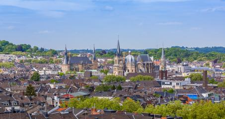 aachen city skyline with town hall and cathedral : Stock Photo or Stock Video Download rcfotostock photos, images and assets rcfotostock | RC-Photo-Stock.: