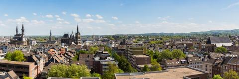 Aachen city with Cathedral and town hall at summer- Stock Photo or Stock Video of rcfotostock | RC-Photo-Stock