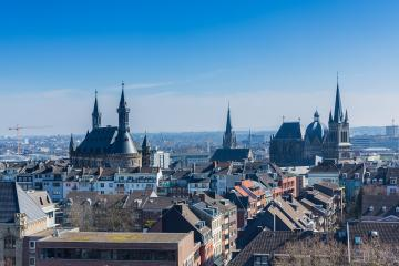 Aachen city with town hall and cathedral - Stock Photo or Stock Video of rcfotostock | RC-Photo-Stock