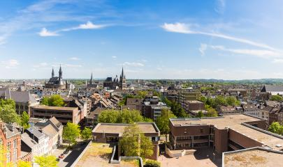 Aachen city with town hall and Cathedral- Stock Photo or Stock Video of rcfotostock | RC-Photo-Stock