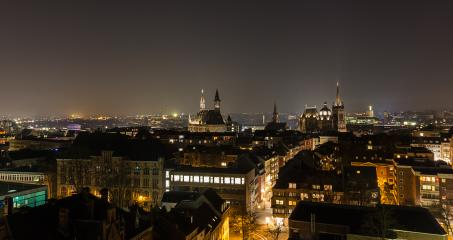 aachen city with town hall and cathedral at night : Stock Photo or Stock Video Download rcfotostock photos, images and assets rcfotostock | RC-Photo-Stock.: