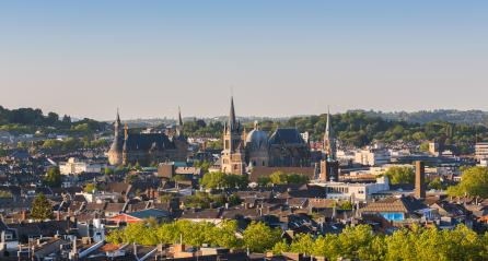 Aachen city with town hall and cathedral at summer- Stock Photo or Stock Video of rcfotostock | RC-Photo-Stock