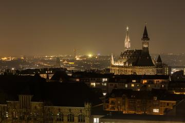 aachen city with town hall at night- Stock Photo or Stock Video of rcfotostock | RC-Photo-Stock