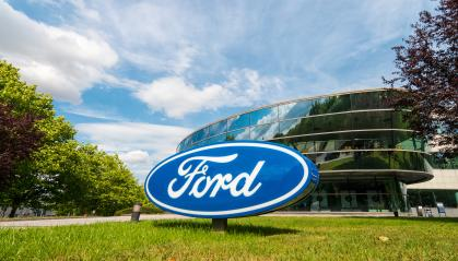 AACHEN, GERMANY APRIL, 2017: Ford logo on a company building. The Ford Motor Company is an American multinational automaker headquartered in Dearborn, Michigan.- Stock Photo or Stock Video of rcfotostock | RC-Photo-Stock